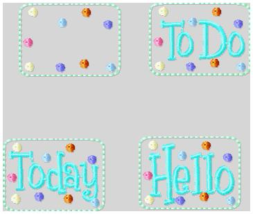 Today Clips 2 Emb roidery File