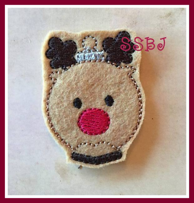 SSBJ Reindeer Ornament Embroidery File