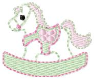 Rocking Horse Embroidery File