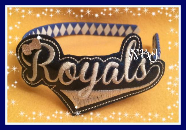 Royals Glam Band Embroidery File