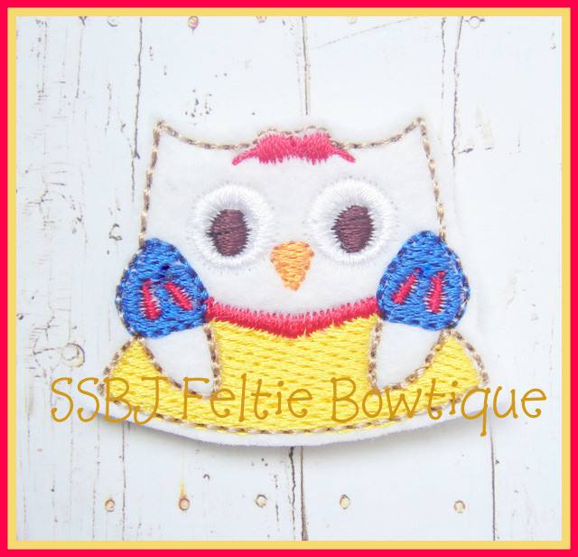 Princess Snow Owl Embroidery File