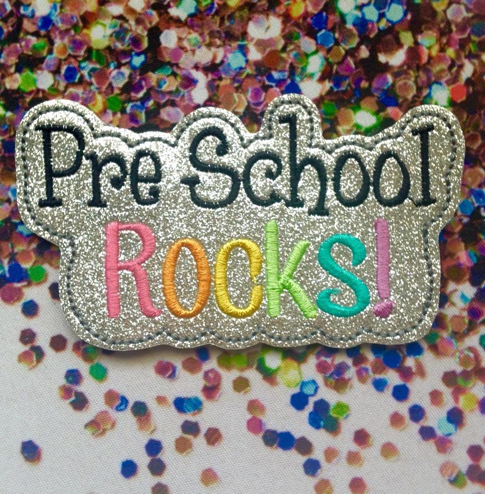 Pre School Rocks Feltie Embroidery File