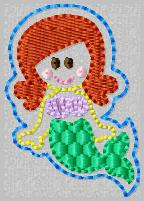 SS Princess Ariel Embroidery File