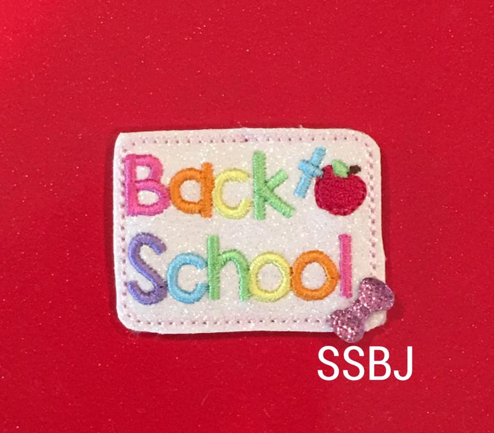 SSBJ Back to School Cover Embroidery File