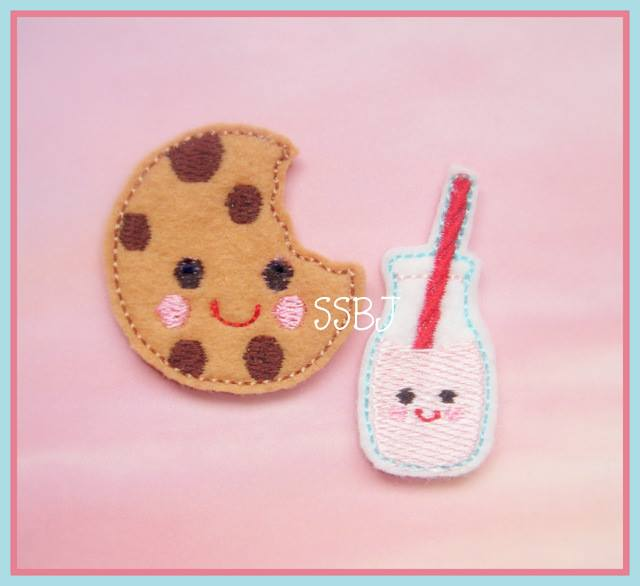 Smiley Cookie and Milk Embroidery File
