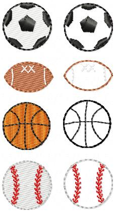 MINI Sports Themed Embroidery Files