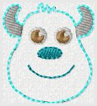 Monster Sully Embroidery File