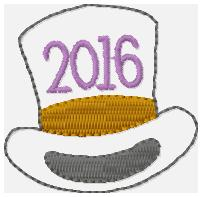 2016 Top Hat Embroidery File