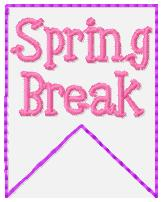 SSBJ Banner Planner Embroidery File-Spring Break