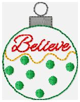 SSBJ Believe Ornament Embroidery File