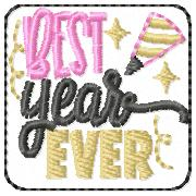 SSBJ Best Year Ever Embroidery File