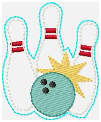SSBJ Bowling Pins Embroidery file