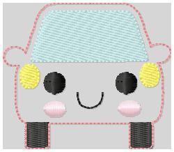 Car Bill Embroidery File