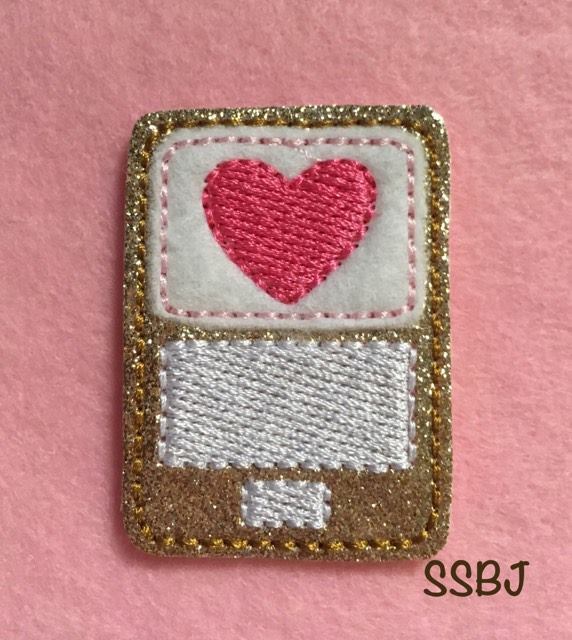 SSBJ Valentine Cell Phone Embroidery File