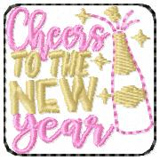 SSBJ Cheers New Year Embroidery File