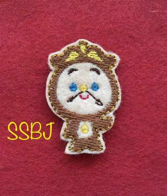 SSBJ Beauty Cogsworth Embroidery File