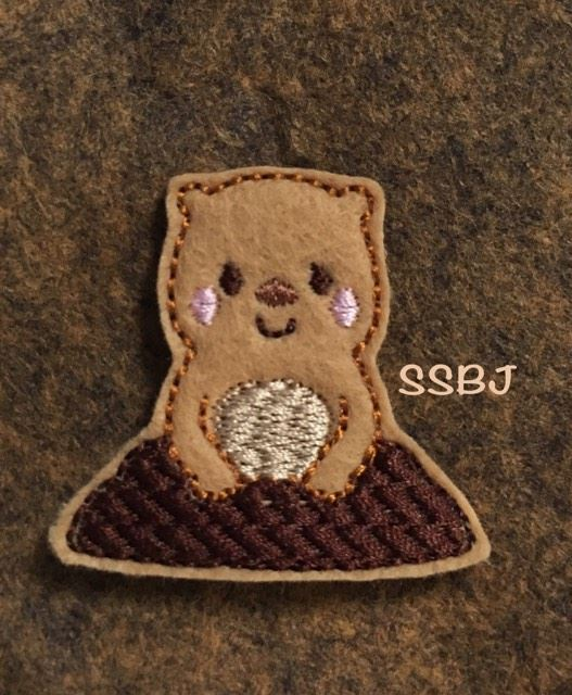 SSBJ Groundhog Embroidery File