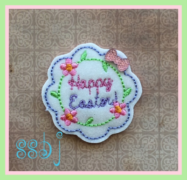 SSBJ Happy Easter Scallp Embroidery File