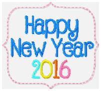 SSBJ Happy New Year 2016 Embroidery File