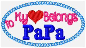 SSBJ My Heart Belongs to PaPa Embroidery File