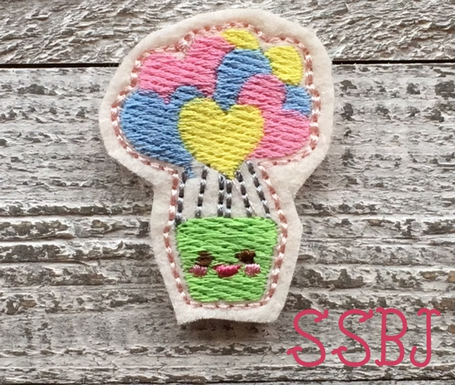 SSBJ Hot Heart Balloon Embroidery File