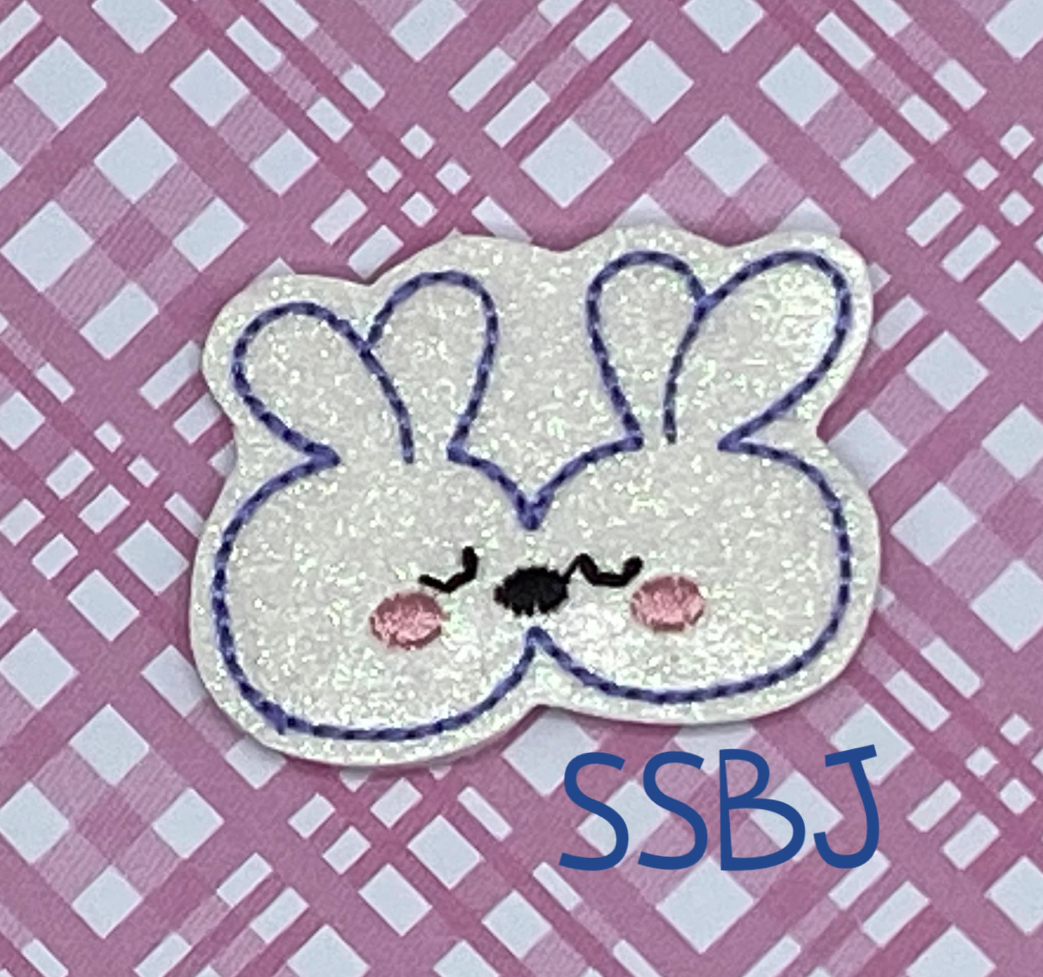 SSBJ Kissing Bunnies Embroidery File