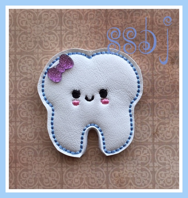 SSBJ Kutie Tooth Embroidery File
