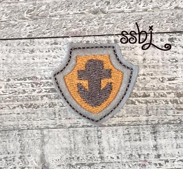 SSBJ Paw Patrol Anchor Shield Embroidery File