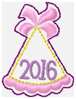 SSBJ Party Hat 2016 Embroidery File