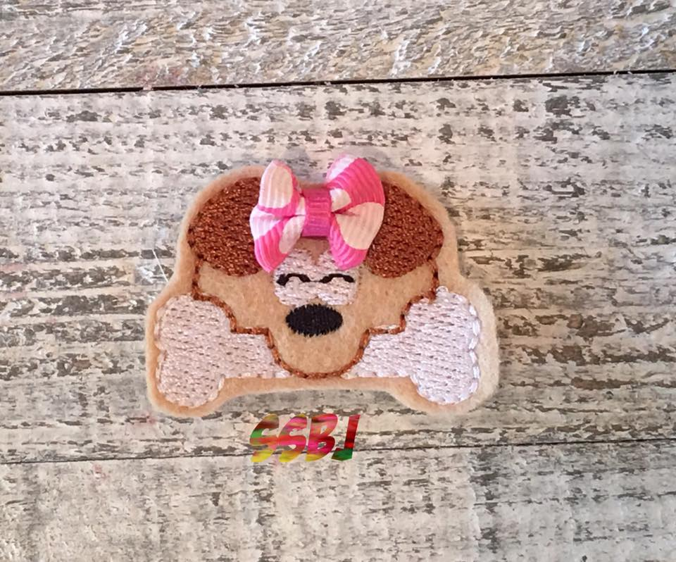 SSBJ Peeking Dog Embroidery File