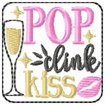 SSBJ Pop Clink Kiss Embroidery File