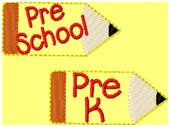 SSBJ Pre School PencilEmbroidery File