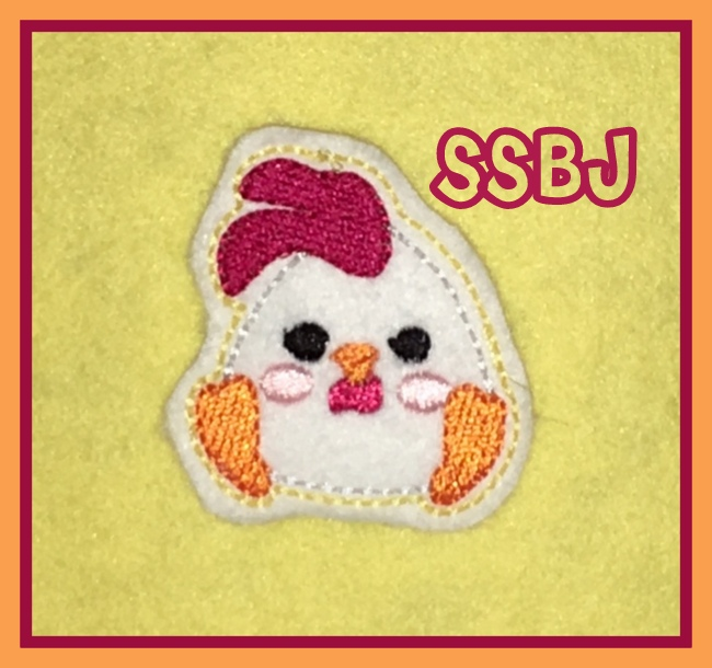 SSBJ Rooster Embroidery File