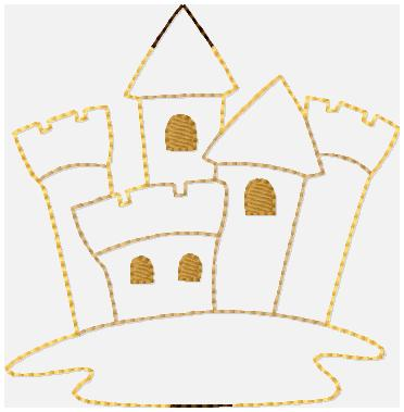 SSBJ Sandcastle Glam Band Embroidery File