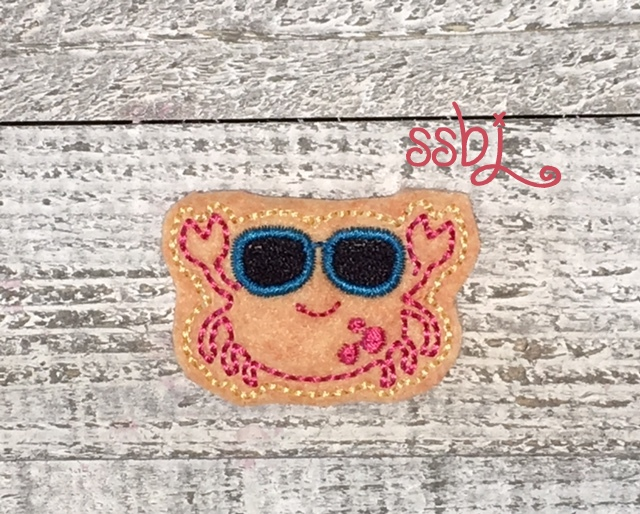 SSBJ Sandcrab Eyeglass FILL Embroidery File