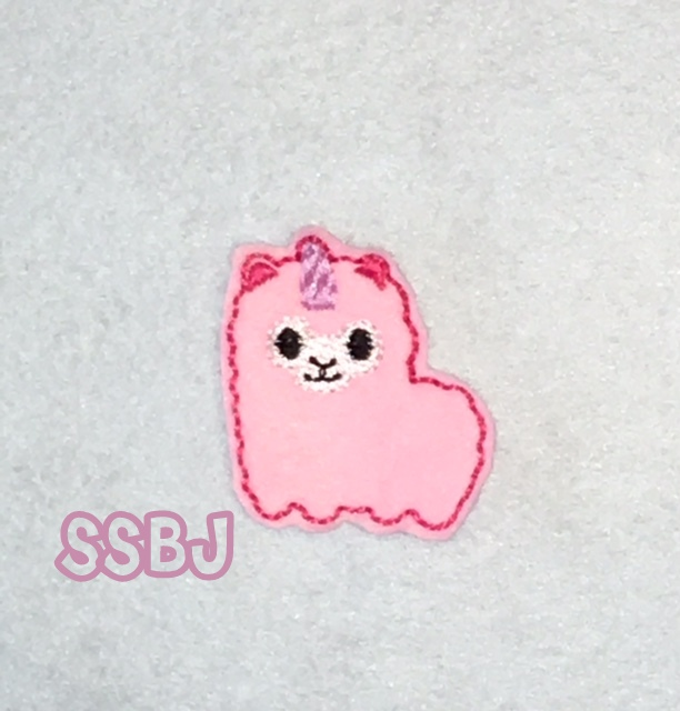 SSBJ Unicorn Llama Embroidery File
