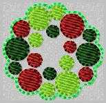 Bubble Wreath Embroidery File