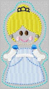 SS Princess Cinderella Embroidery File