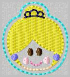 SS Princess Cinderella 2 Embroidery File