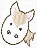 SS Horse Feltie Embroidery File FACE