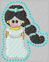 SS Princess Jasmine Embroidery File