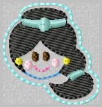 SS Princess Jasmine 2 Embroidery File