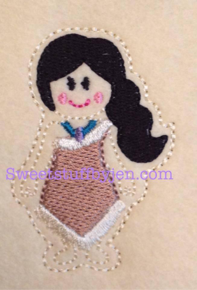 SS Princess Pocahontas Emboirdery File