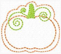 SS Pumpkin Swirl Embroidery File