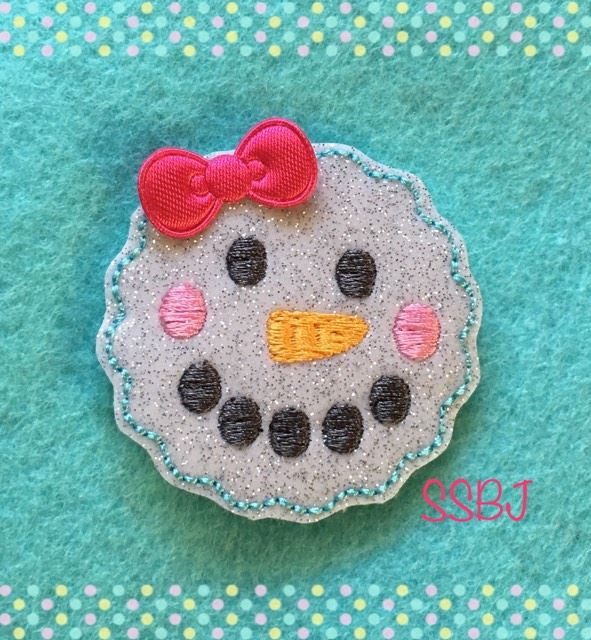SSBJ Scallop Snowman Embroidery File