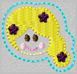 SS Princess Tangled Embroidery File