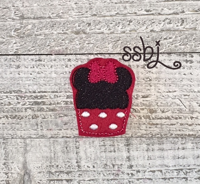 SSBJ Mrs Mouse Cupcake  Embroidery File