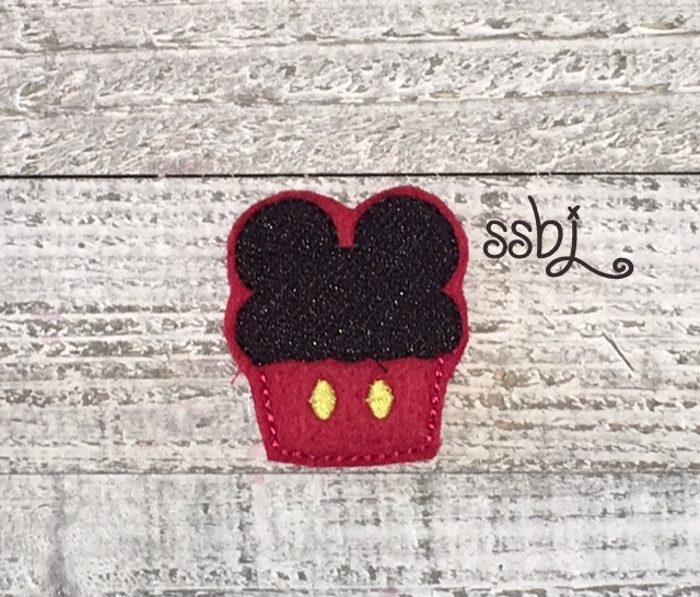 SSBJ Mr Mouse Cupcake Embroidery File