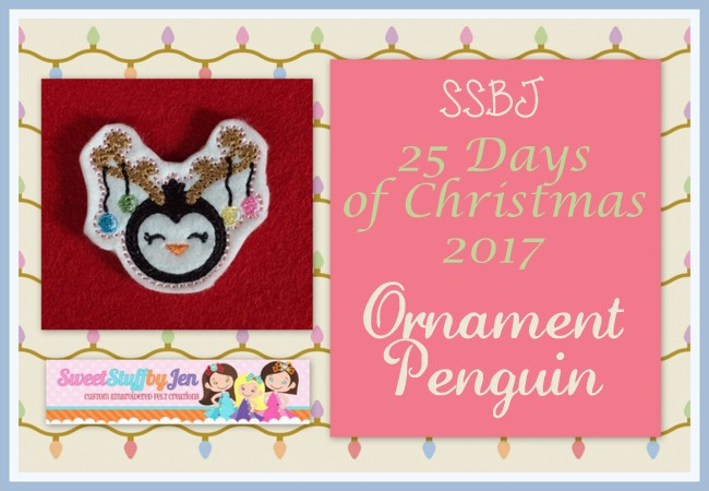 SSBJ Ornament Penguin Embroidery File