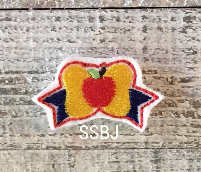 SSBJ Princess Bow Snow White Embroidery File